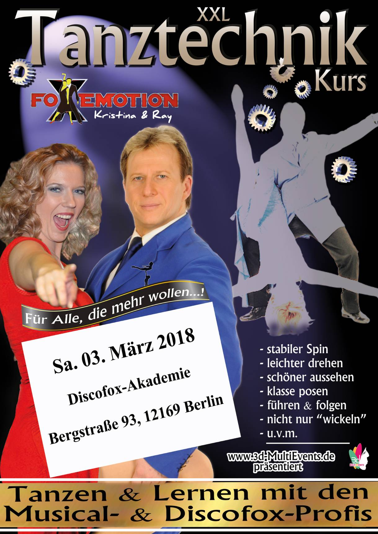FoXemotion mit Discofox Tanztechnik in Berrlin